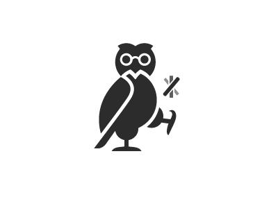 Owl logos mark logo wise flip dime coin bird owl