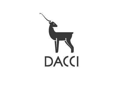 Antelope dacci gift mark logo elegant animal antlers antelope