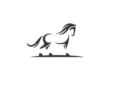 Horse elegant art shalamanov logo mark stallion line animal horse