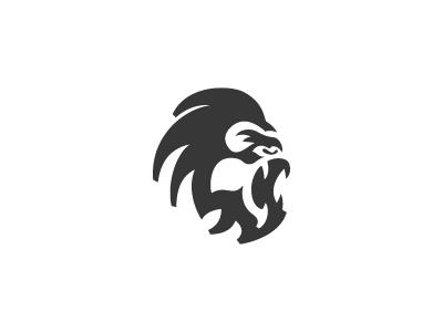 Gorilla custom gaming pc store negative space logo gaming gorilla