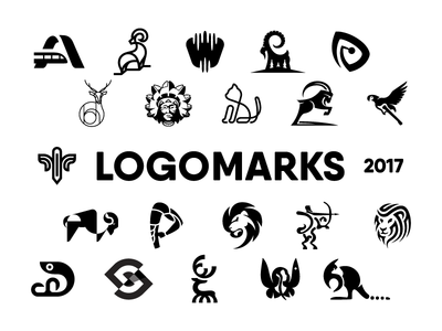 25 SELECTED LOGOMARKS 2017 branding logo designer mark symbol logofolio animal identity logomark logo