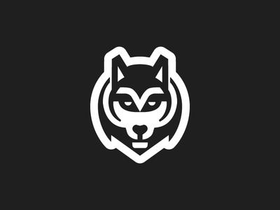 Wolf design north black and white negative husky dog forest head logo wolf animal