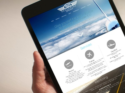 Pilots Mentoring Website web responsive pilots aviation