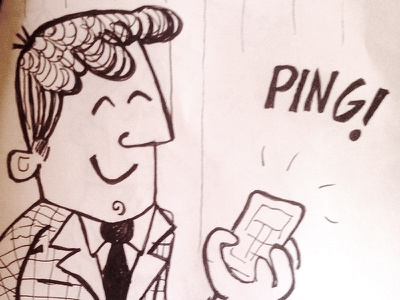 ping jelou presentation sketch drawing