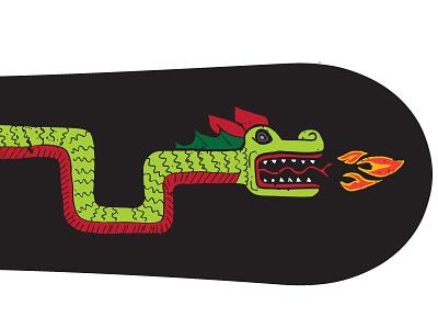 Crispy Dragon dragon snowboard