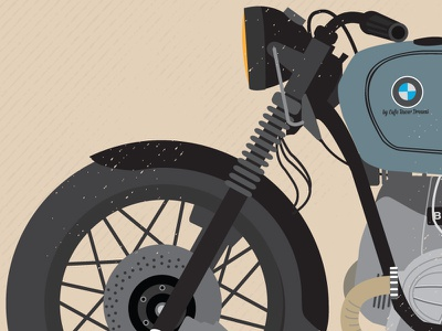 Crd 51 Bmw R100 front bike bmw r100