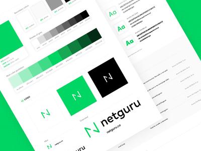 Netguru new CI style guide netguru typography guide green colors ci branding