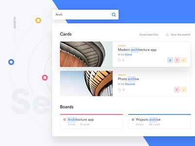 Trello Atlassian - Search ui trello card redesign light flat desktop search