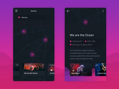 Social Music App - Events