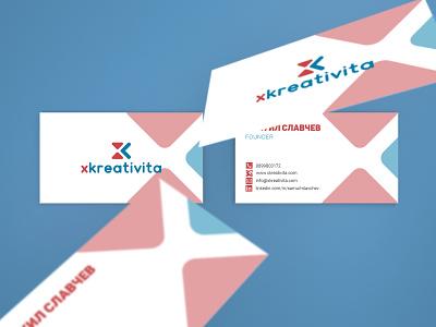 Xkreativita - Cards print design business card brand design logo logo design brand identity brand branding product design graphic design design creative agency