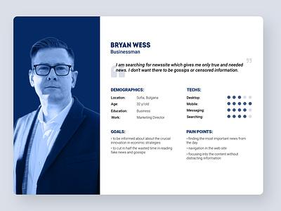 User Persona web design web site ux design user experience user persona user ux ui graphic design design