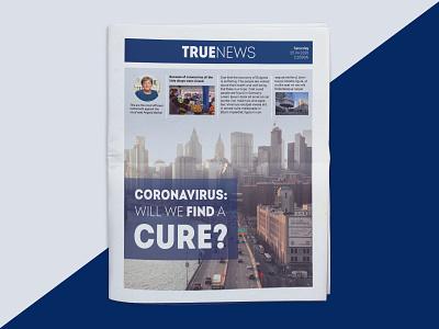 True News - Newspaper print design print typography web ux ui uiux newsprint newspaper branding product design graphic design design