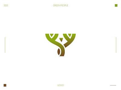 Green People Logo logo design branding brand identity people logo logo green people tree logo