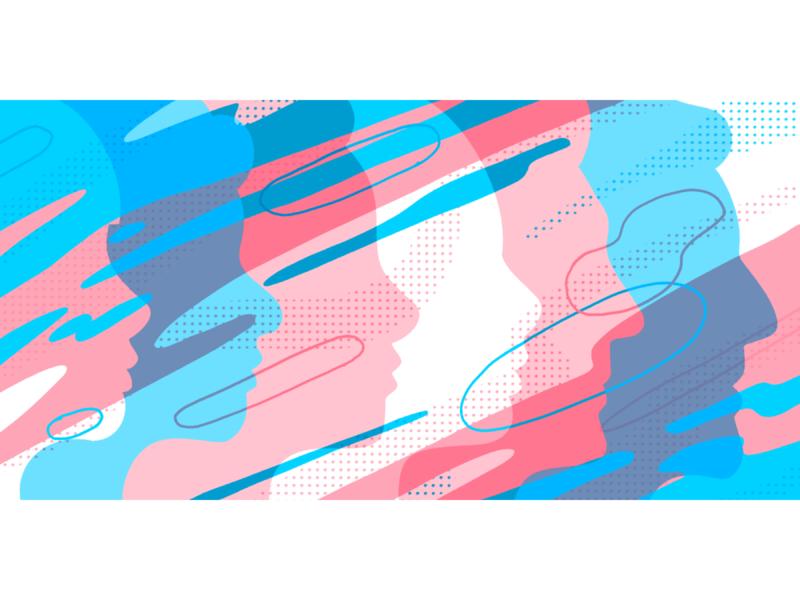 Lattice - Article illustration transition hr transgender pride abstract dots character editorial illustration design procreate illustration