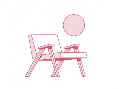 Wanna sit? minimalist chair halftone abstract outline streetwear pattern dots texture procreate editorial illustration illustration character