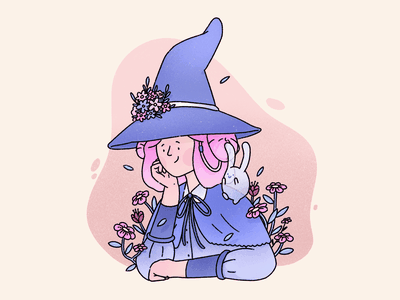 Draw this in your style - @paulapastela cute witch drawthisinyourstyle abstract outline pattern texture procreate editorial illustration illustration character