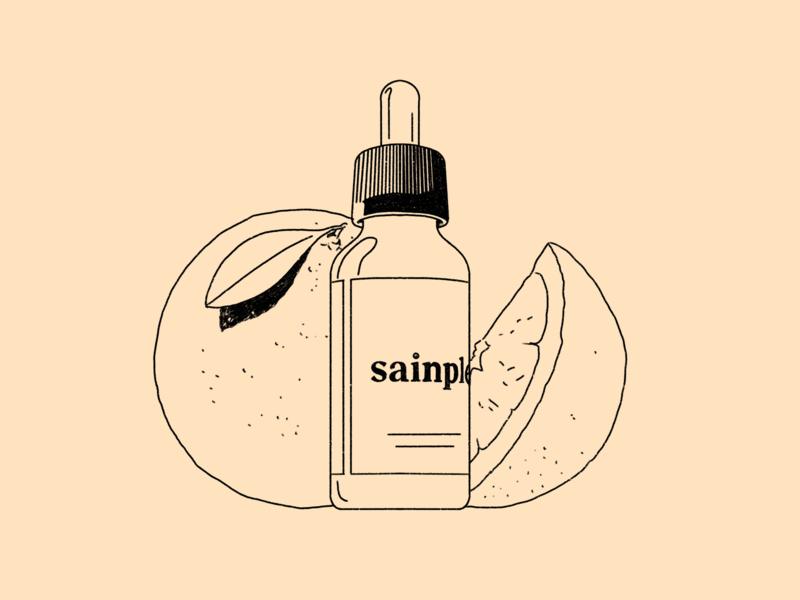 Sainple - 5 sun vitamin health fun abstract outline streetwear pattern dots texture procreate editorial illustration illustration character
