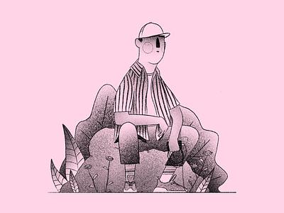 🎤 Illustration dots eddy de pretto portrait man vector procreate illustration design