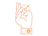 Illustration Key Hand
