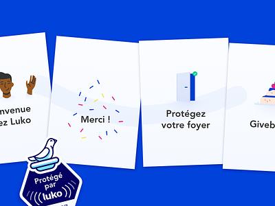 Luko – Welcome kit ui design illustration