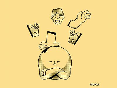 Poster Muxu.Values #2 vector procreate design outline line pattern editorialillustration illustration