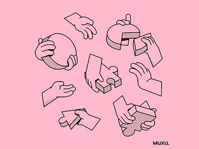 Poster Muxu.Values #3 vector procreate design outline line pattern editorialillustration illustration