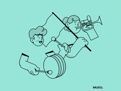 Poster Muxu.Values #5 vector procreate design outline line pattern editorialillustration illustration