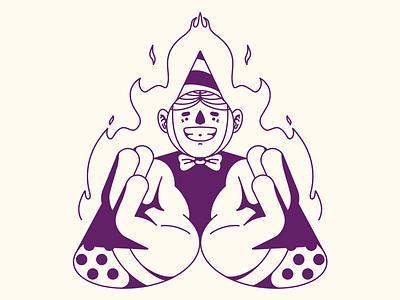 🔥 hands symmetry fire creepy birthday streetwear pattern dots texture procreate editorial illustration illustration character