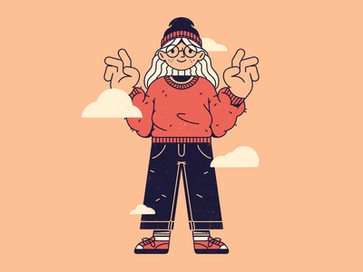 head in the clouds cloud symmetry outline streetwear pattern dots texture procreate editorial illustration illustration character