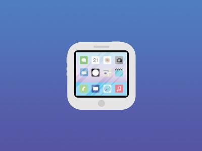 Iphone iOS7 UI Icon ui icon flat ios7 iphone reflect portfolio