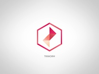 Triworm - fun logo