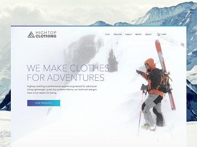 Hightop clothing E-commerce user interface interface minimal clean mountain simple flat logo icon ui shop web