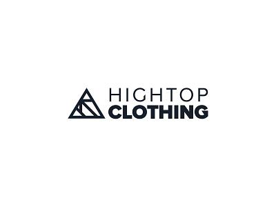 Hightop Clothing Logo black white lines simple clean minimal triangle web shop typography branding identity logo