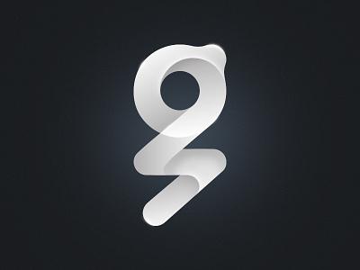 G Shape logo letter gradient fold simple logo