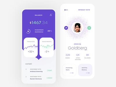 Investment Collabo Mobile App ios mobile clean app ux ui design
