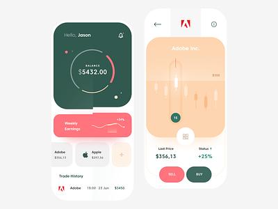 Trading Mobile App mobile clean app ux ui design