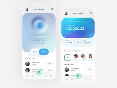 Smart Bookkeeping Mobile App bookkeeping ios mobile clean app ux ui design