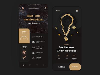 High Fashion Mobile App flat mobile clean app ux design ui