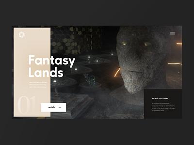 Fantasy Lands Website grid layout webdesign website minimalist ux ui design
