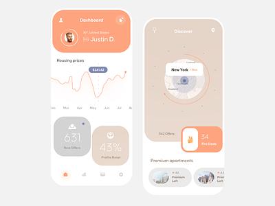 Real Estate Mobile App ios flat mobile clean app ux design ui