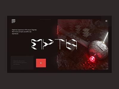 VR Experience Website design ui ux minimalism website webdesign