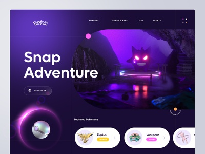 Pokemon website webdesign website minimalism ux ui design