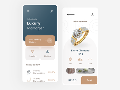 Luxury Manager Mobile App luxury flat mobile clean app design ux ui