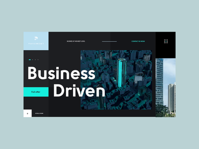 Pavement Real Estate Website realestate website web after effects c4d animation 3d ux ui design