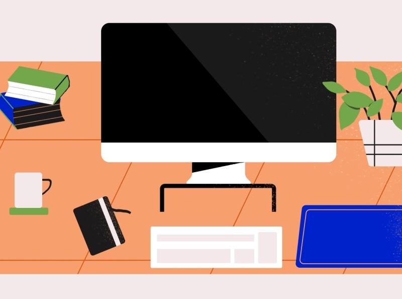 Workspace Flat Illustration flat design illustration