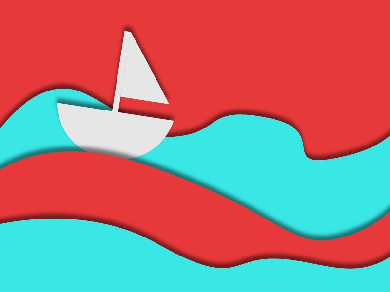 Simple Sailboat web design vector art boat sailboat webpage simple vector illustration