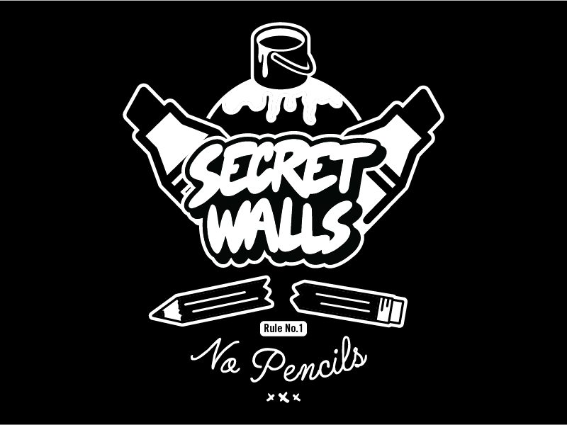 Secret Walls - No Pencils no pencils secret walls art design snake illustration tshirt apparel