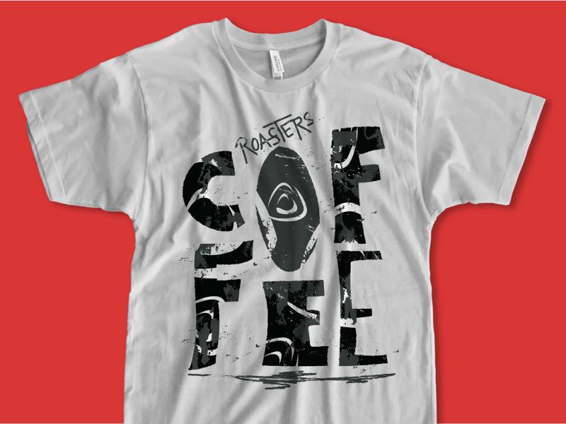 Roasters Coffee T-Shirt design illustration lettering tshirt