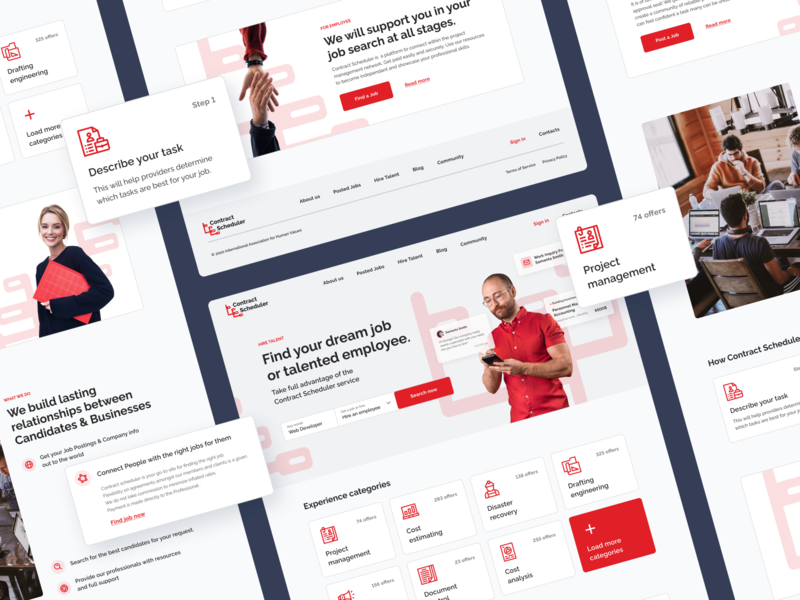 Website for Job search service job listing job board jobfinder search working work findjob job design ux landing landing page typography figma