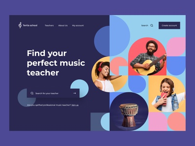 Music schoool visual identity training tech service schedule overview lesson music app music knowledge identity design identity e-learning education edtech dashboard class calendar app